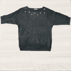 3/$10 Gray & Silver dolman sleeve